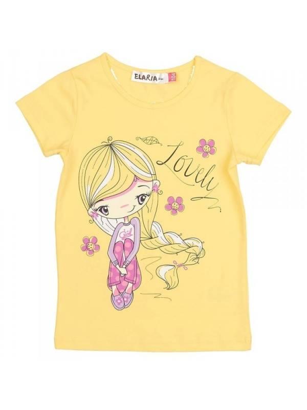 Купить 346307_желтый, Футболка Elaria 346307 цв.желтый р.98,