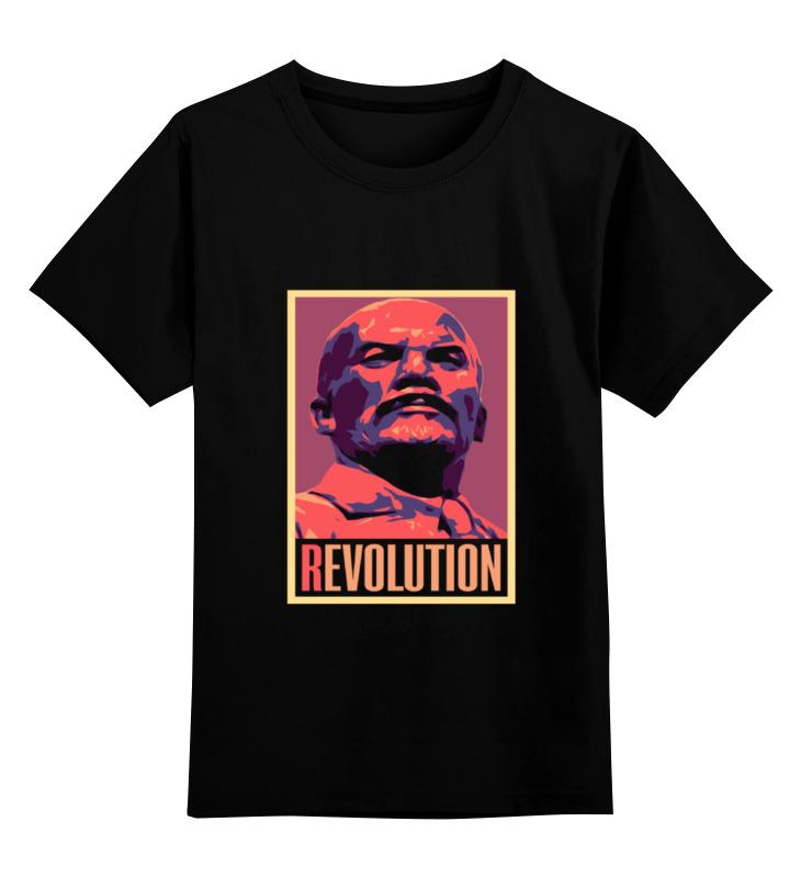 Купить 0000001521668, Детская футболка Printio Revolution цв.черный р.140,