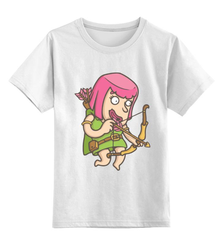 Детская футболка Printio Лучница clash of сlans цв.белый р.140 0000001474479 по цене 790