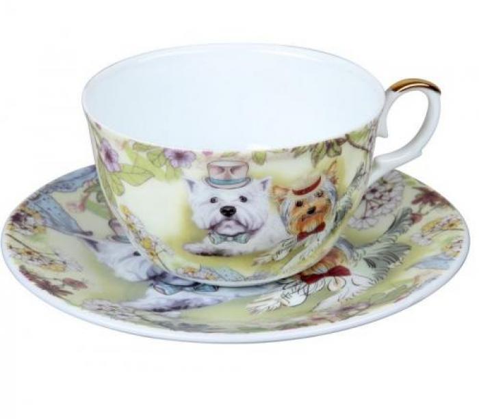 Чайная пара ROSENBERG, Желтая Собака, 2 предмета,