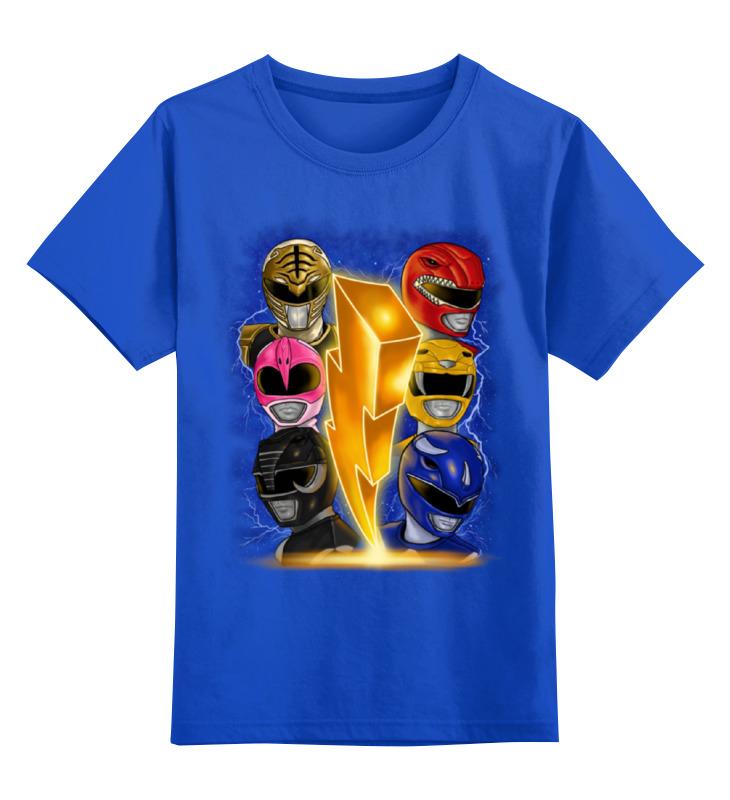 Купить 0000001016376, Детская футболка Printio Рейнджеры цв.синий р.140,