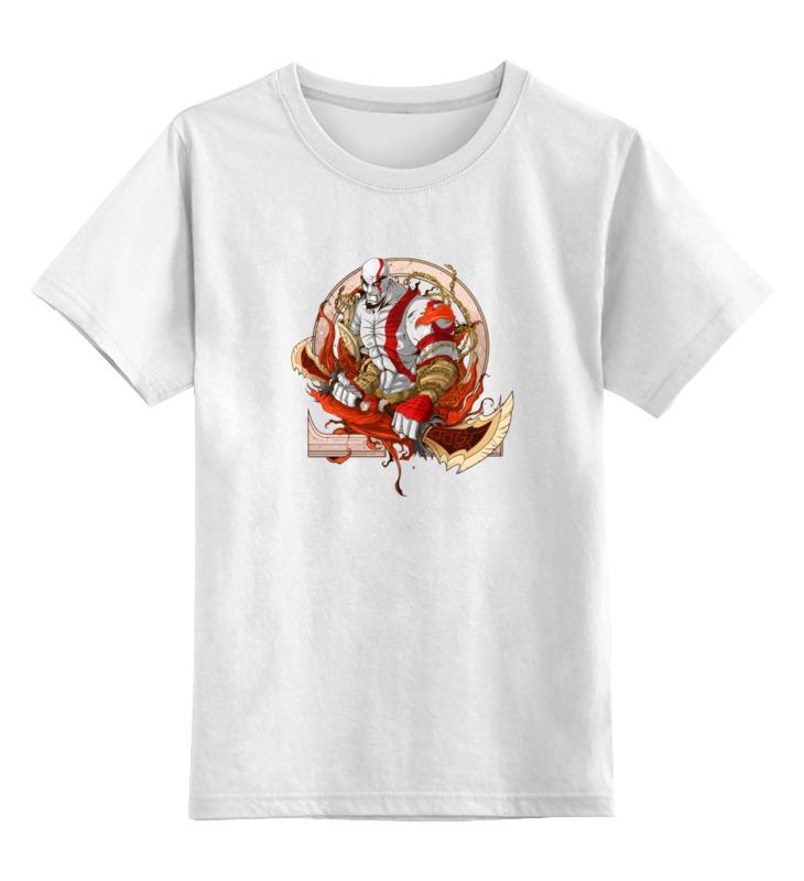 Детская футболка Printio Кратос бог войны цв.белый р.140 0000000962290 по цене 790