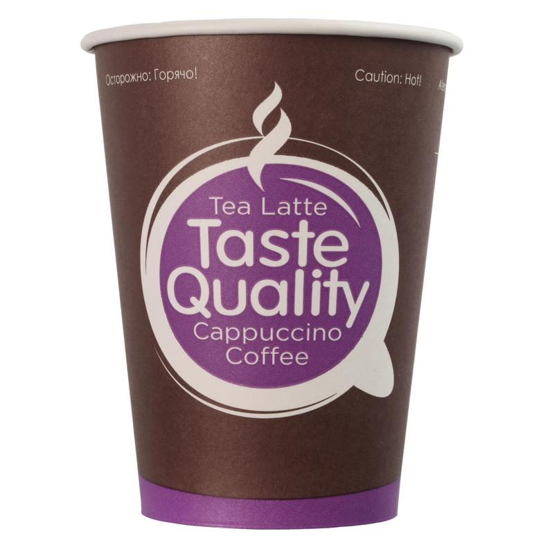 Стакан одноразовый TasteQuality бумажный разноцветный 300
