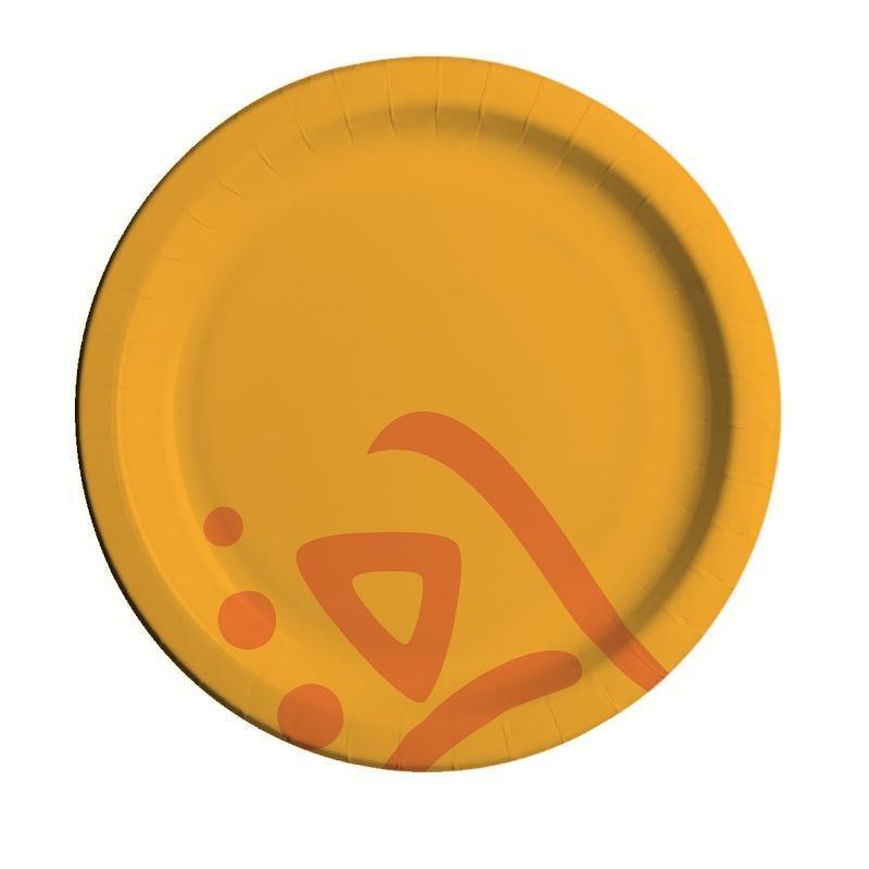 Тарелка одноразовая Huhtamaki Whizz бумажная разноцветная