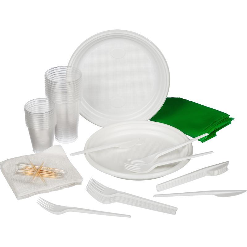 Набор одноразовой посуды На природу на