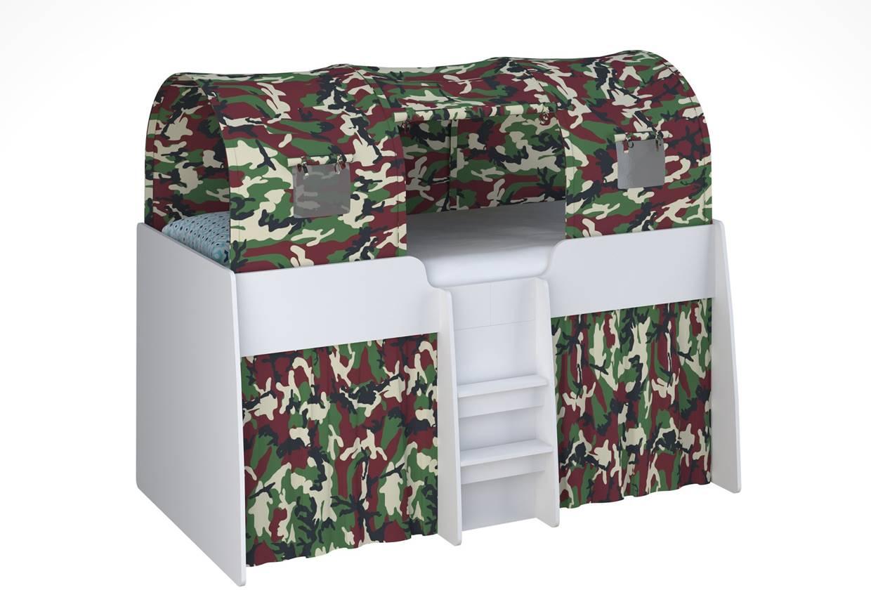 Кровать чердак Polini Simple 4100 белый