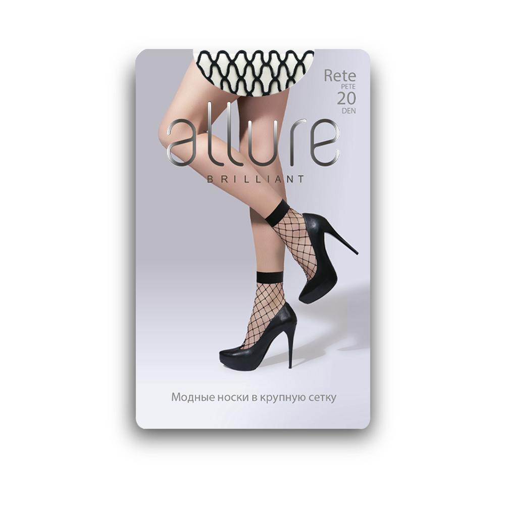 Капроновые носки женские ALLURE ALL RETE maxi 20 черные 23-25