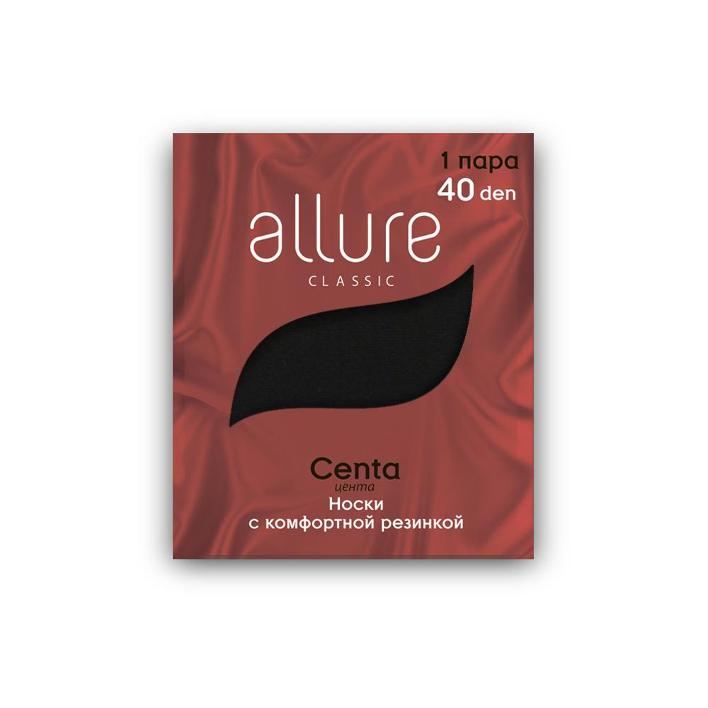 Капроновые носки женские ALLURE ALL CENTA 40 черные 23-25