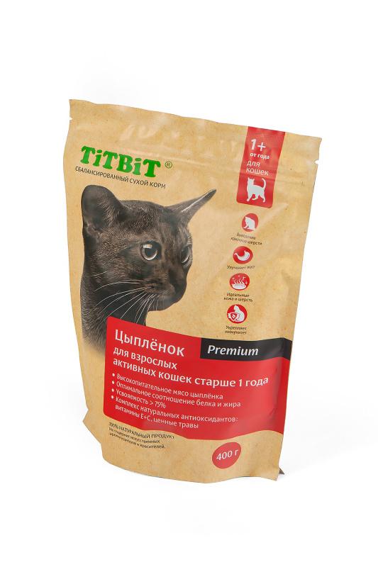 Сухой корм для кошек TiTBiT для взрослых