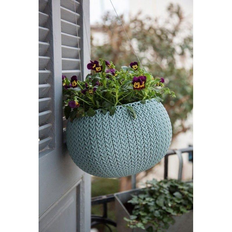Горшок для цветов COZY L голубой