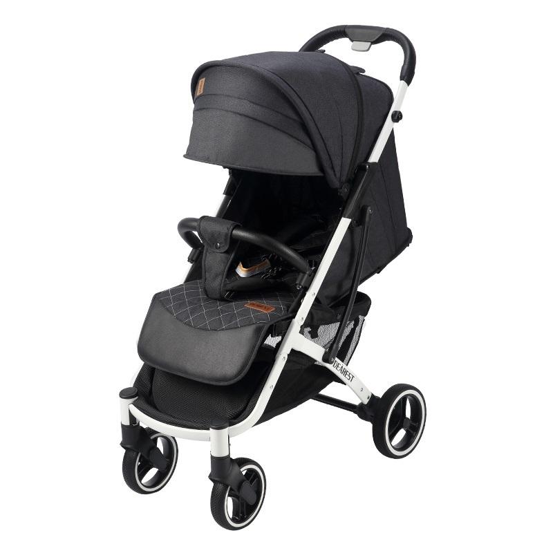 Прогулочная коляска Dearest Yoya Plus Pro Max 2020 Черная белая рама
