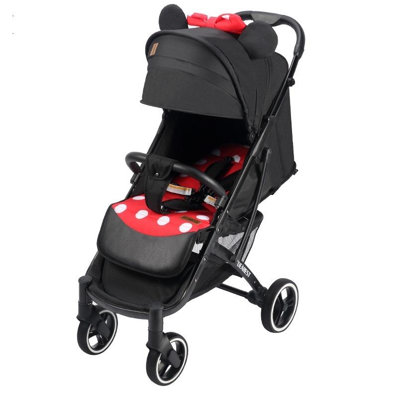 Прогулочная коляска Dearest Yoya Plus Pro Max 2020 Минни черная рама