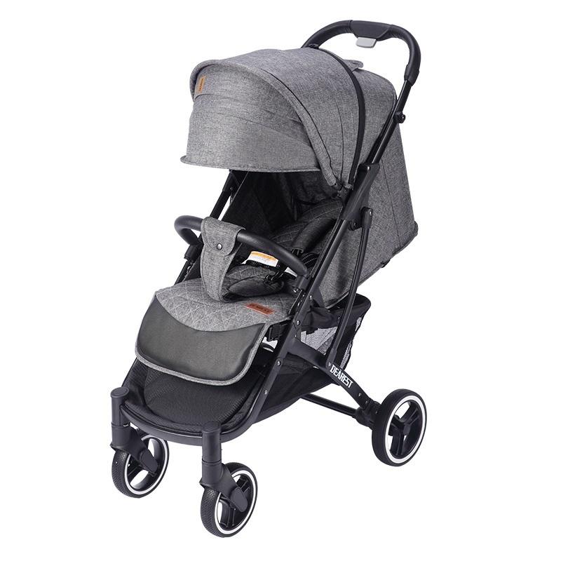 Купить Прогулочная коляска Dearest Yoya Plus Pro Max 2020 Серая черная рама, Коляски-книжки