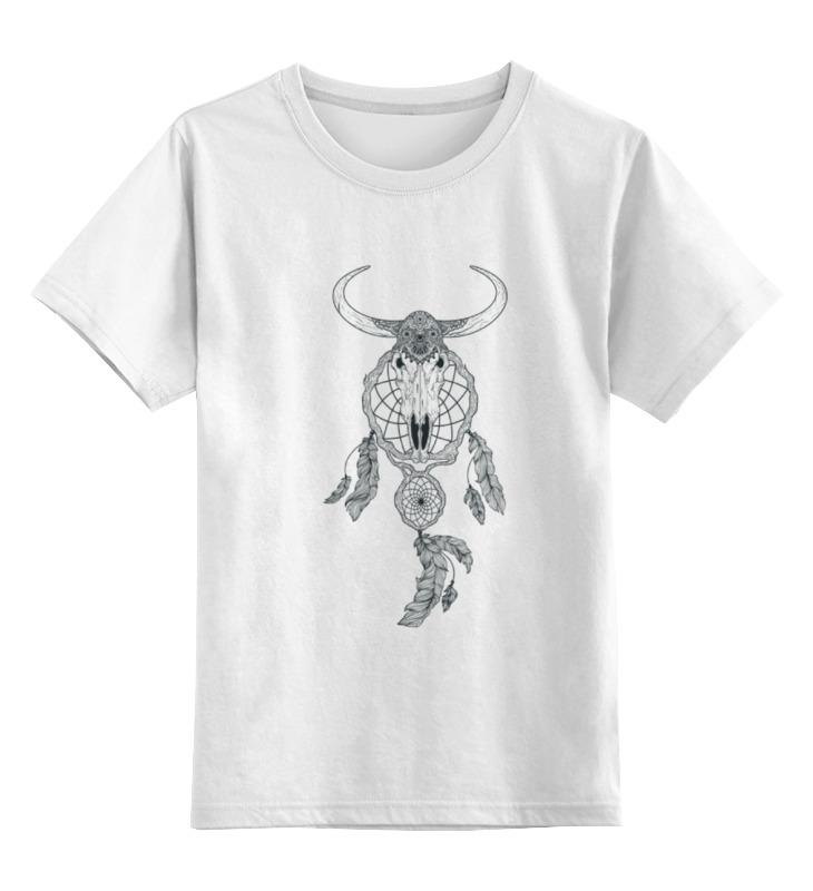 Детская футболка Printio Skull цв.белый р.104 0000000788463