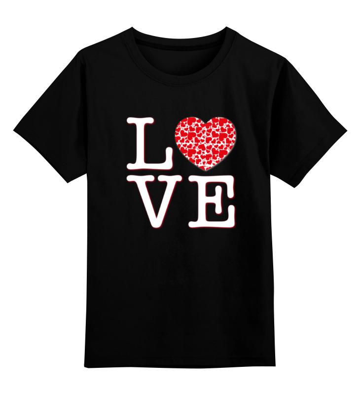 Купить 0000000795219, Детская футболка Printio Футболка любовь цв.черный р.128,