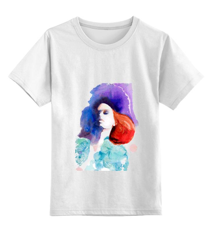 Детская футболка Printio Girl in colors цв.белый р.128 0000000795028 по цене 790