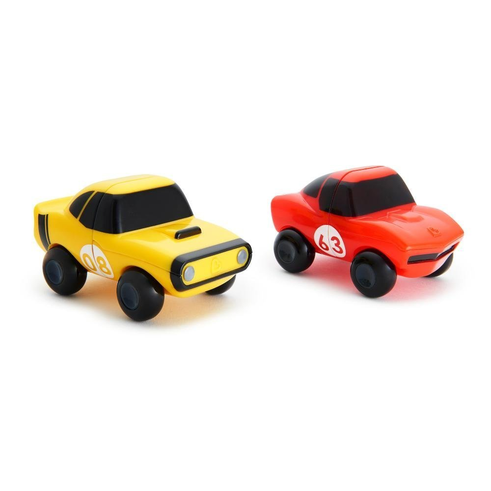 Купить Игрушка для ванны Munchkin машинки желтая-красная magnet motors, 2 шт.,