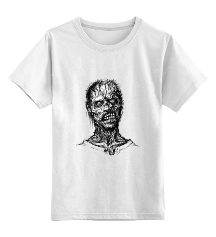 Купить 0000000790973, Детская футболка Printio Zombie art цв.белый р.128,