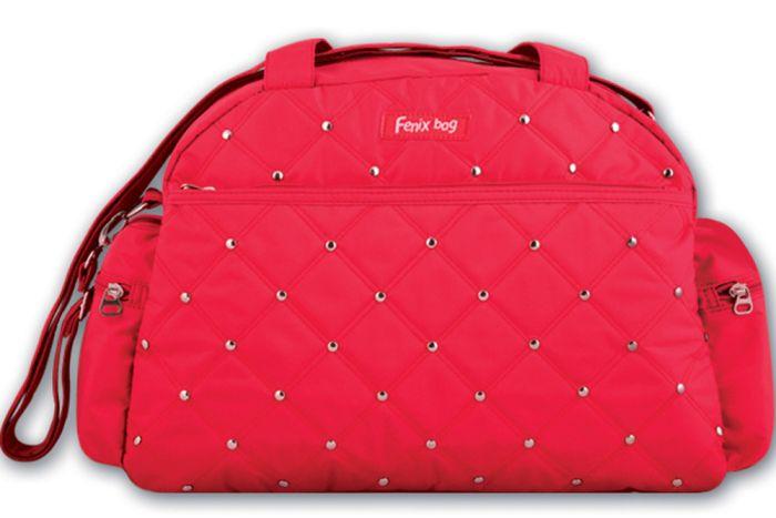 Купить Сумка детская Феникс+ для девочек Красная с клепками,