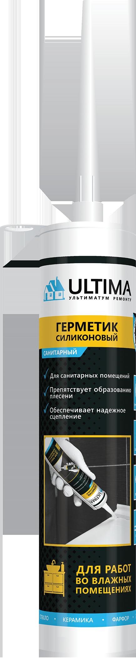 Герметик ULTIMA S силиконовый санитарный бесцветный 280мл H0803