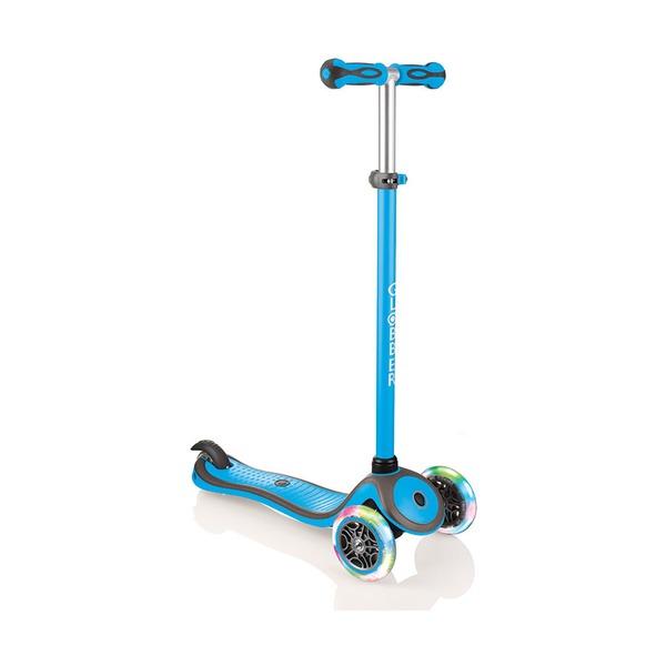 Купить Самокат Globber Primo Plus Color Lights, голубой,