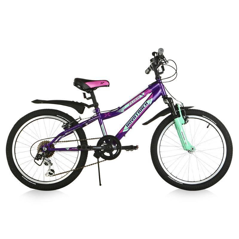Велосипед NOVATRACK Flyer 20 (2017) фиолетовый (20SH6V.FLYER.VL7)