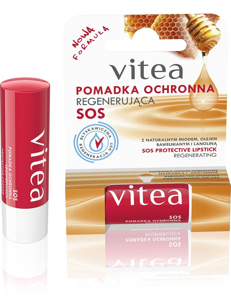 Бальзам для губ Vitea Восстанавливающий с медом,