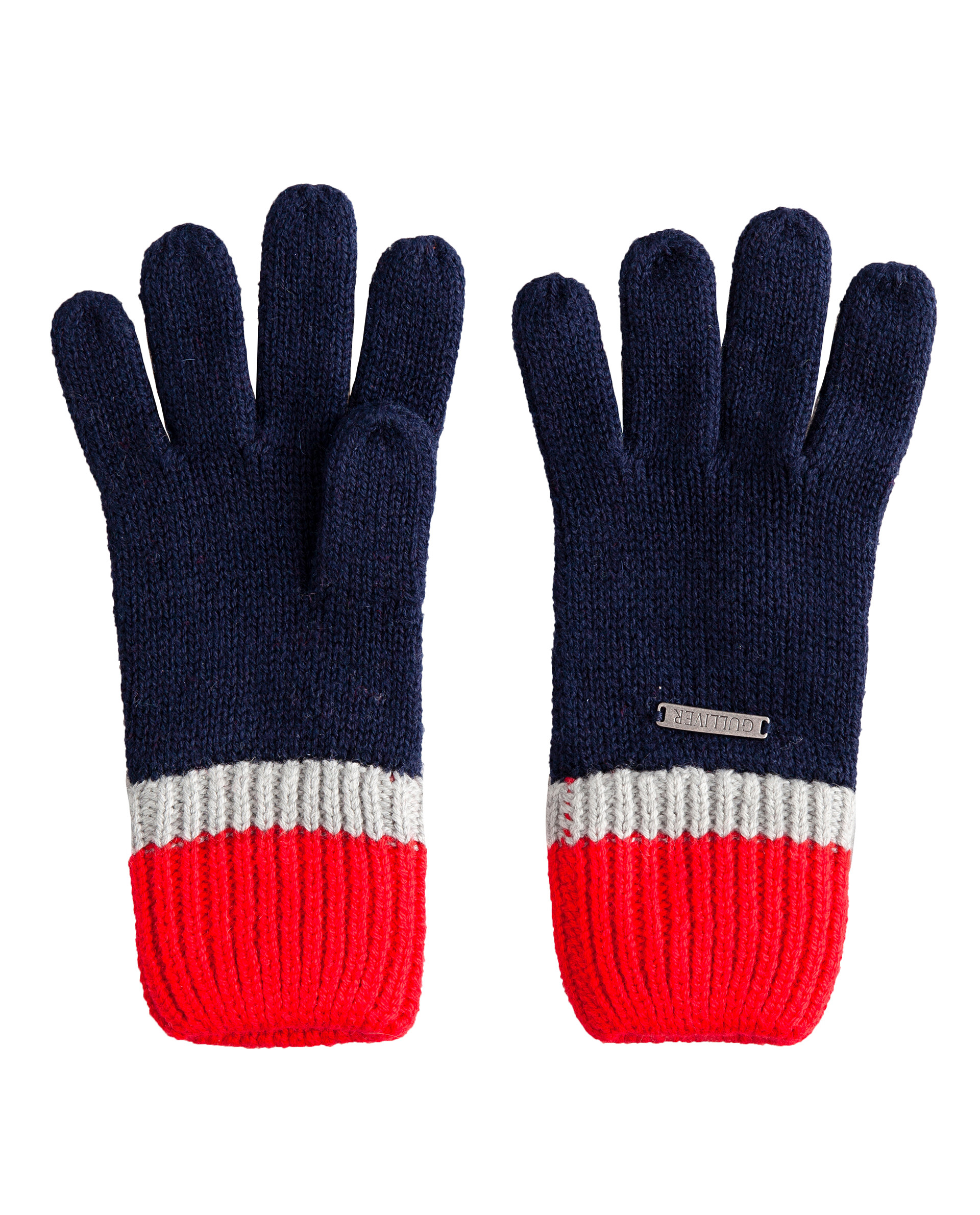 Синие перчатки вязаные Gulliver 22005BMC7603, размер 12