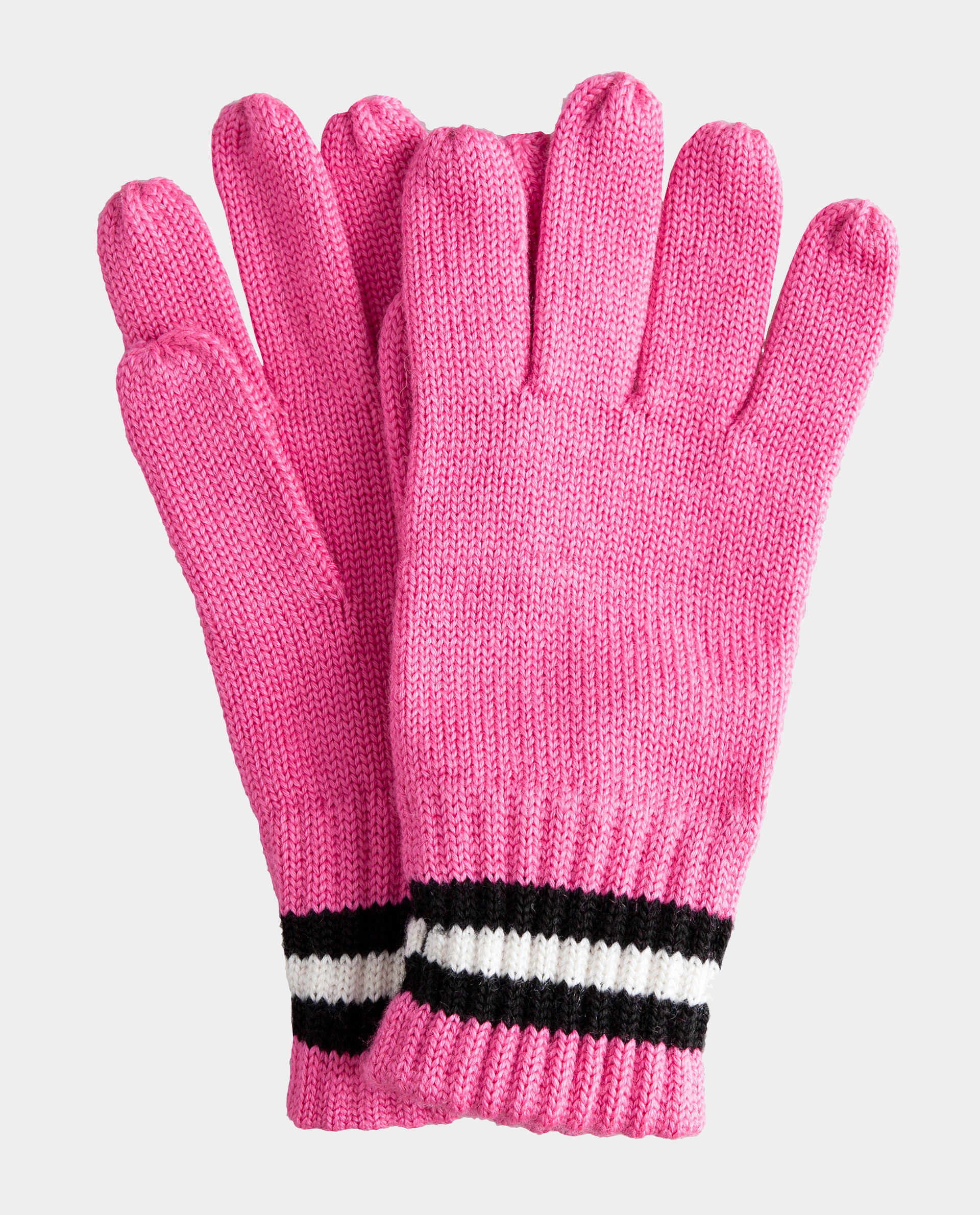 Розовые перчатки вязаные Gulliver 22009GJC7601, размер 16