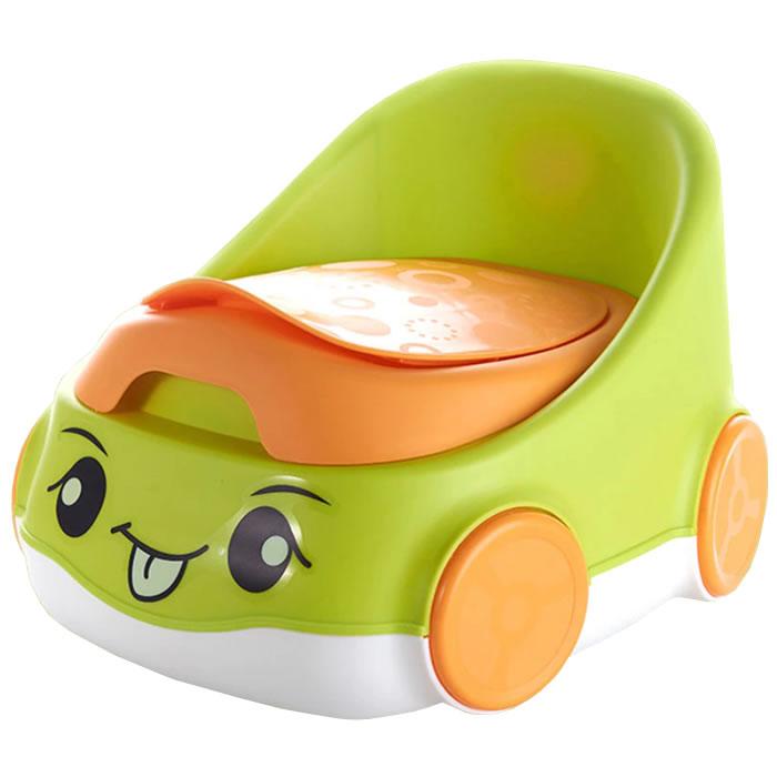 Детский горшок Home Comfort Веселая машинка, зеленый
