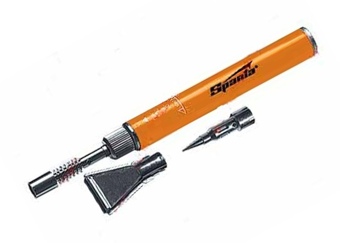 Горелка газовая карандаш, большая, в комплекте с двумя насадками для пайки от Hobbi