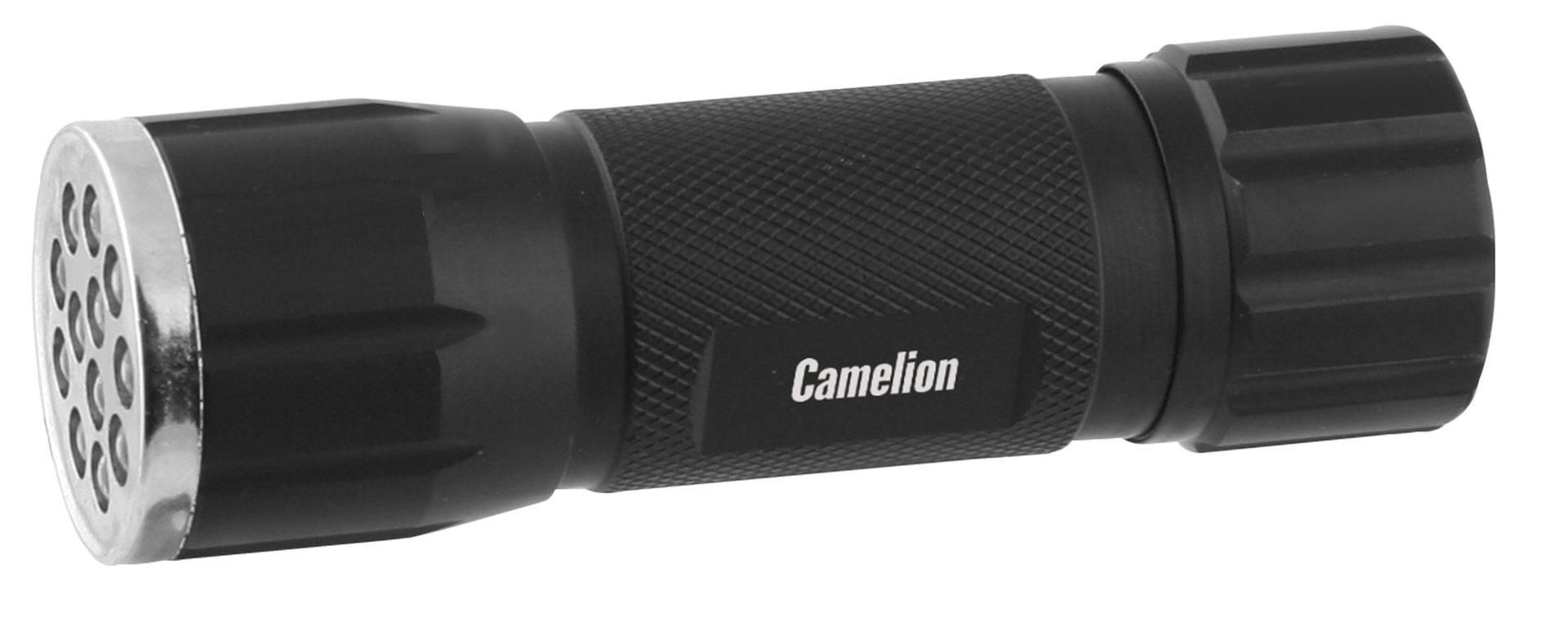 Фонарь Camelion LED 5109-12, 12 LED, 3xR03 (матовый черный)