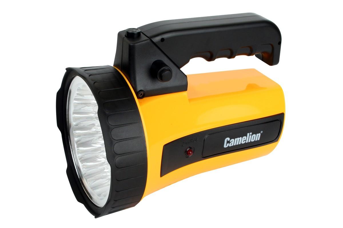 Фонарь Camelion 35LED, аккумулятор 220 В, 6 В, 4 А-ч (желтый)
