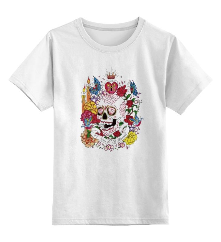 Детская футболка Printio Череп цв.белый р.164 0000000794186 по цене 790