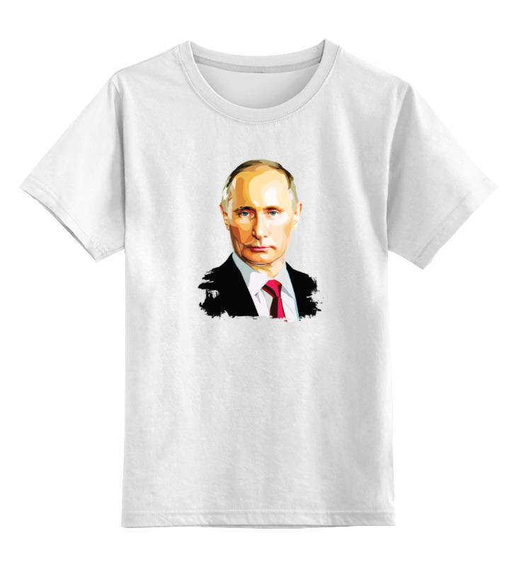 Купить 0000000791053, Детская футболка Printio Владимир Путин цв.белый р.164,