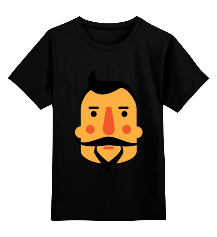 Детская футболка Printio Борода iii цв.черный р.164 0000000788611 по цене 990