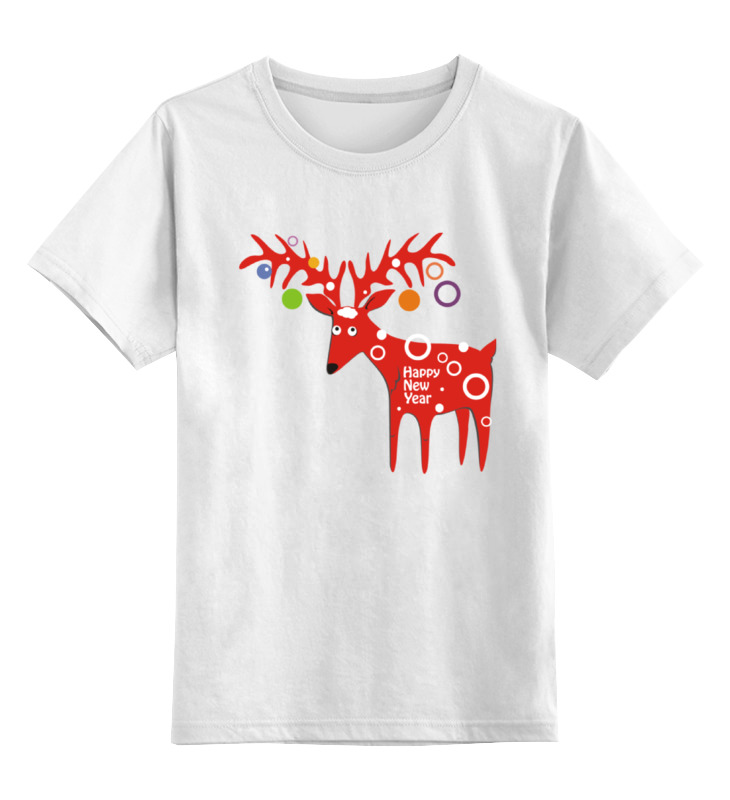 Детская футболка Printio New year is coming! цв.белый р.140 0000000794026 по цене 790