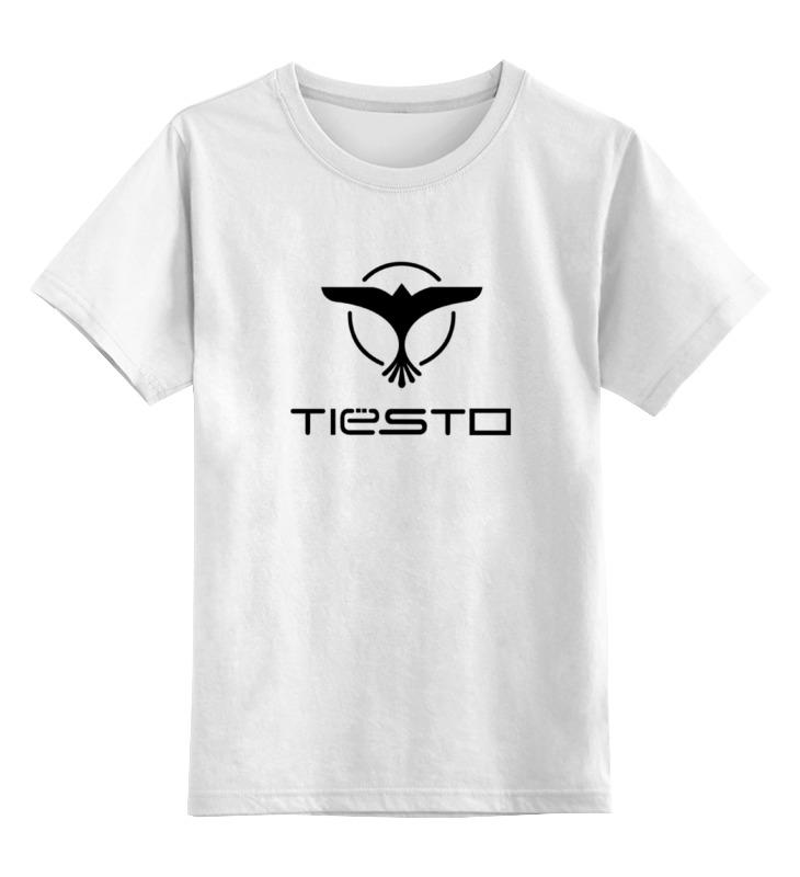 Детская футболка Printio Tiesto цв.белый р.140 0000000788902 по цене 790