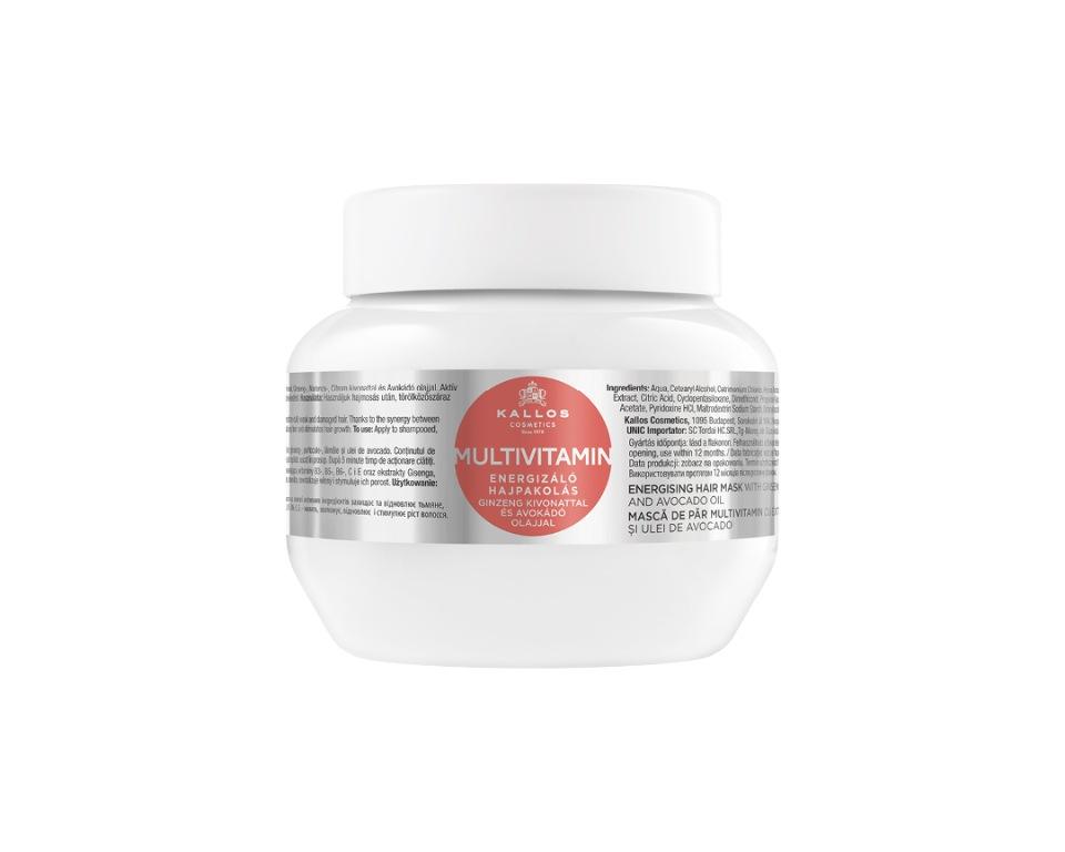 Купить Маска для волос KALLOS KJMN с экстрактом Женьшеня и маслом Авокадо, 275 мл, Kallos Cosmetics
