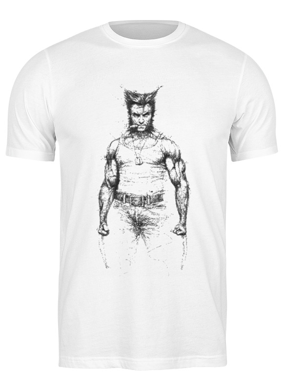 Футболка мужская Printio X-men wolverine 1430816 белая S
