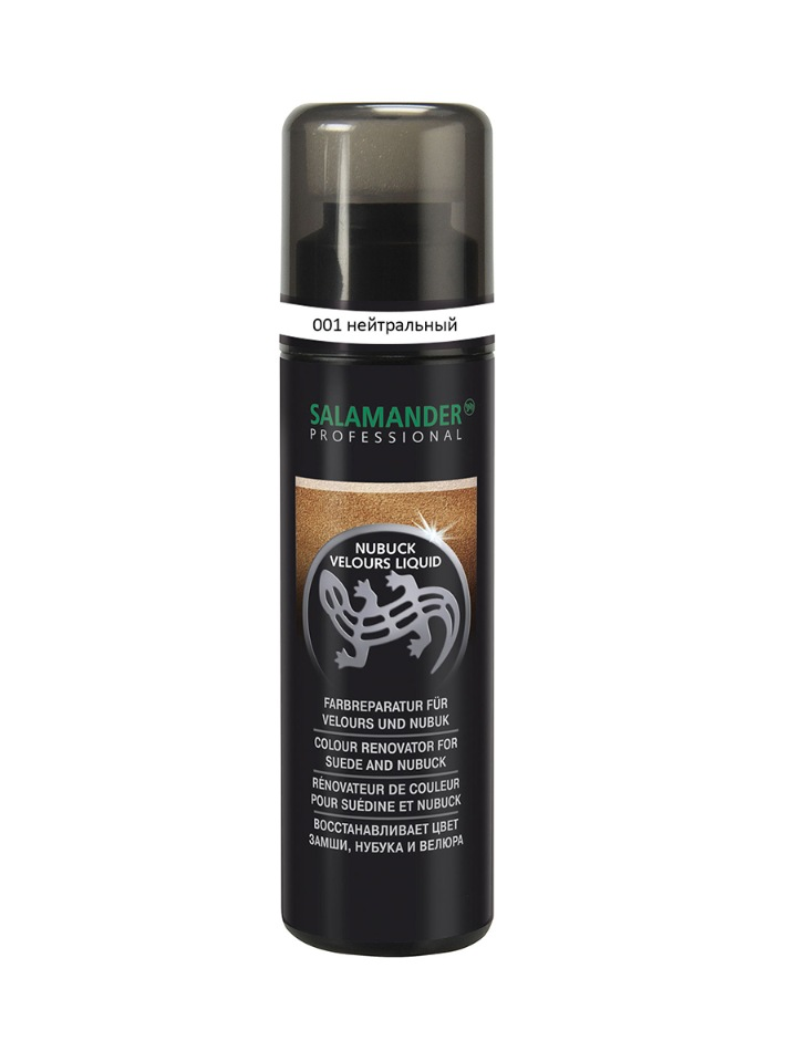 Лосьон-восстановитель цвета Salamander Professional Nubuck Velours Liquid нейтральный 75мл