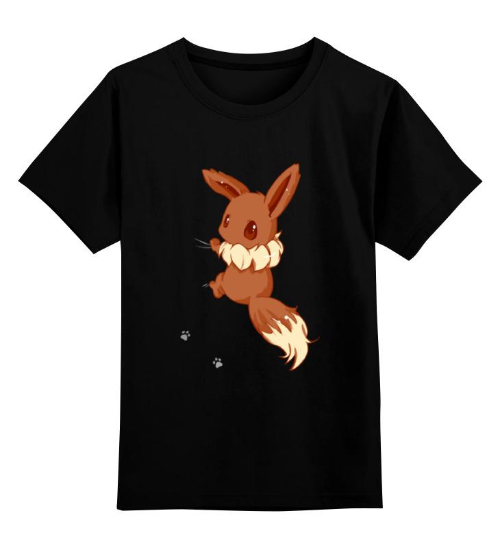 Купить 0000001295759, Детская футболка Printio Лисичка цв.черный р.116,
