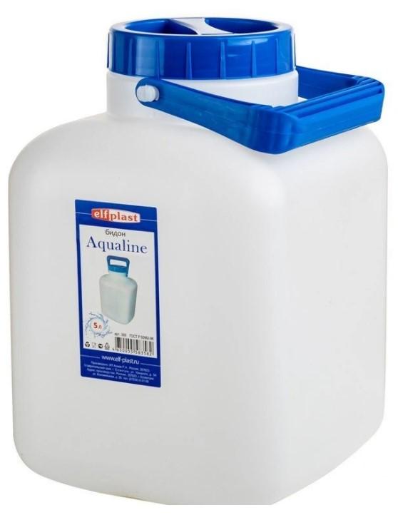 Бидон ElfPlast Aqualine, белый, 5 л