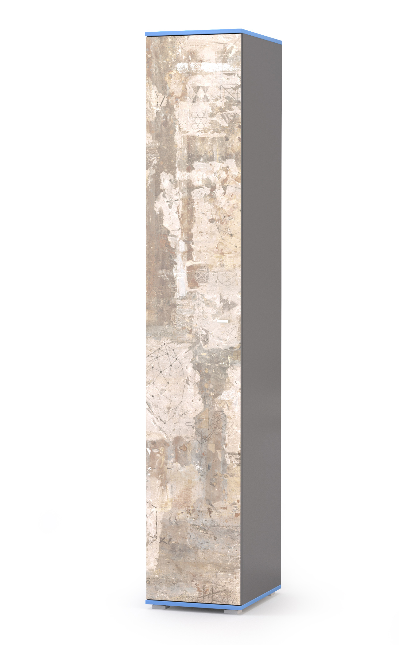 Пенал Mobi Индиго 13.41 тёмно серый/граффити, 38,6х51,1х219,6