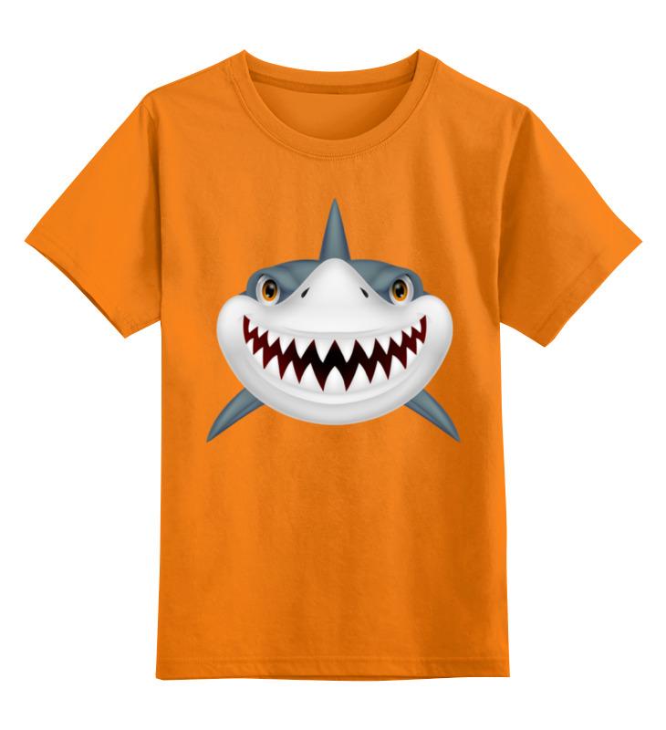 Детская футболка Printio Акула цв.оранжевый р.128 0000001351748 по цене 952