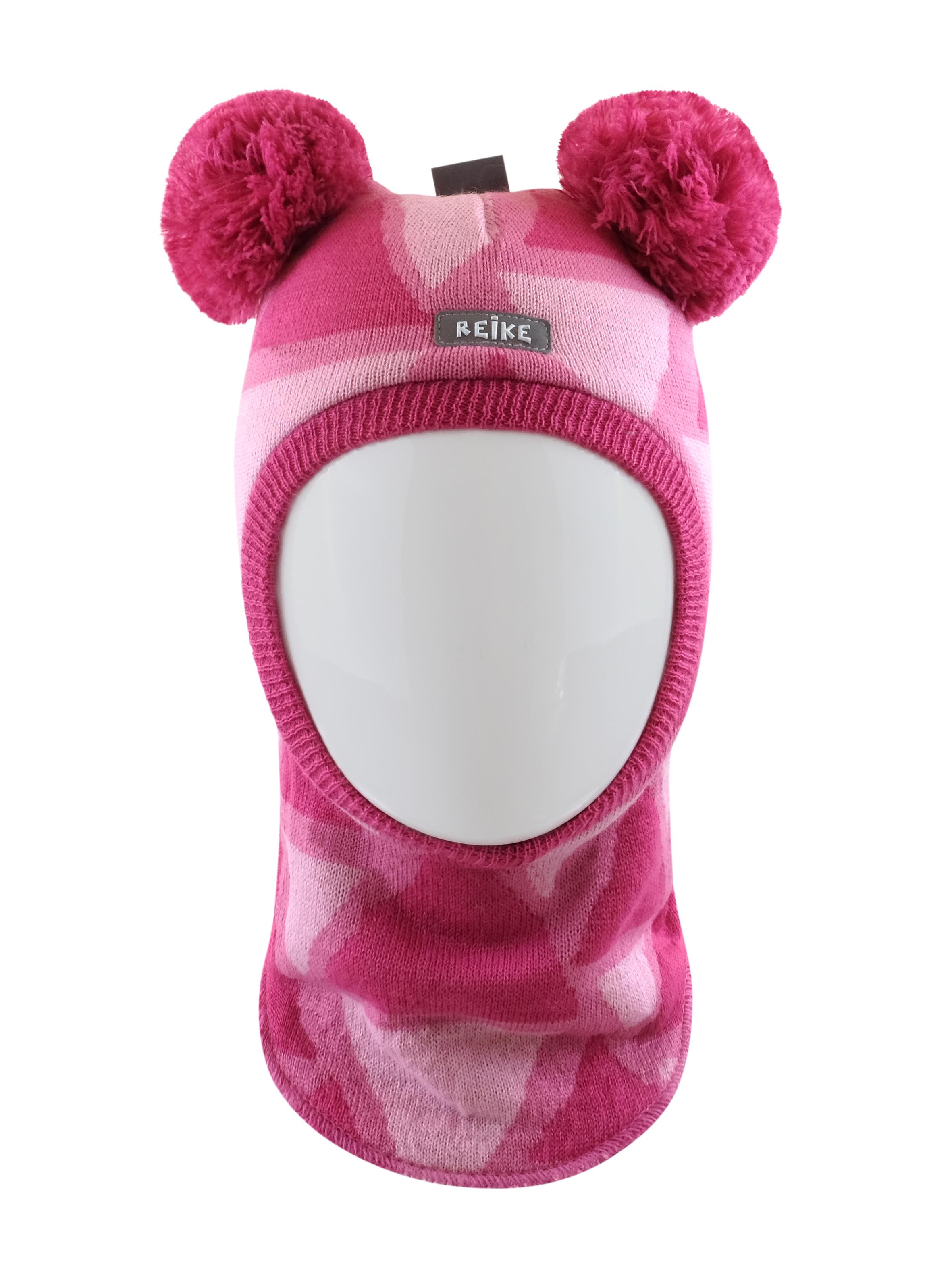 Купить Шапка-шлем для девочки Reike Bunnies fuchsia, RKN2021-1 BNS fuchsia, р.46,