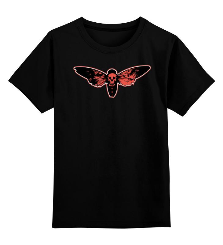 Купить 0000000999682, Детская футболка Printio Skull art цв.черный р.128,