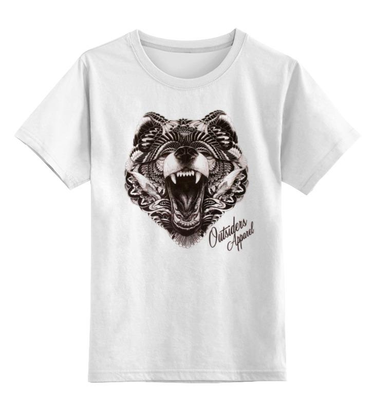 Купить 0000000924617, Детская футболка Printio Animal art цв.белый р.128,