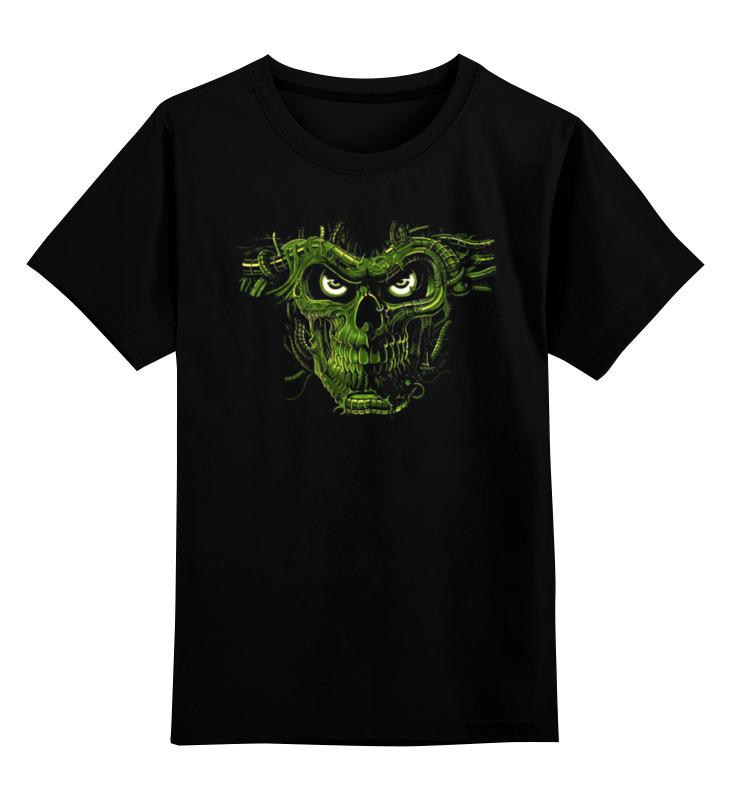 Купить 0000000881807, Детская футболка Printio Skull art цв.черный р.128,