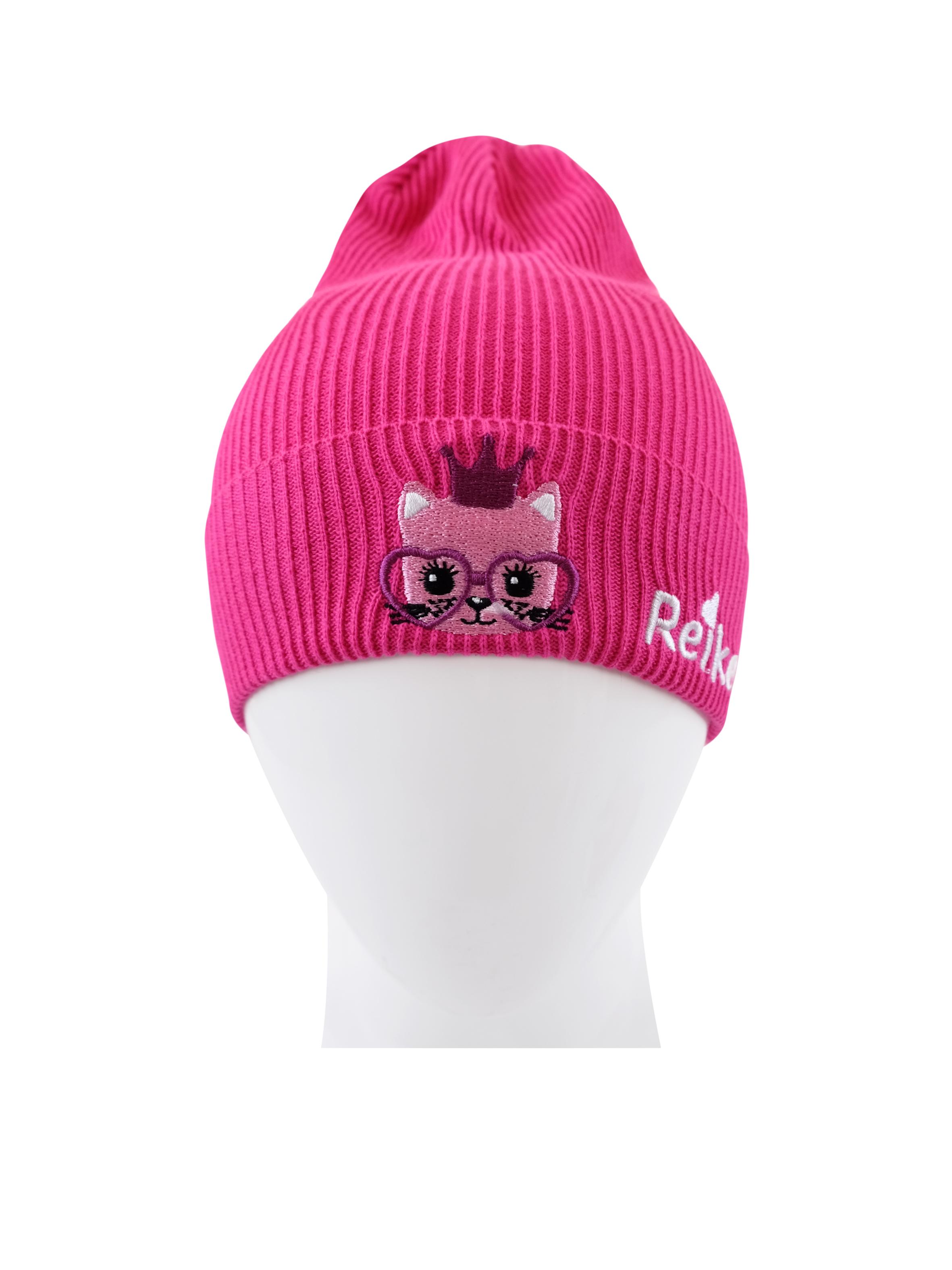 Купить Шапка для девочки Reike Kitty princess fuchsia, RKNSS20-KIT-YN-3 fuchsia, р.52,